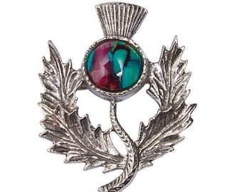 Scotland Thistle Pewter Brooch