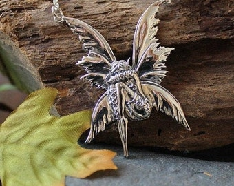 Fairy Necklace, Celtic Jewelry, Elven Jewelry, Butterfly Necklace, Anniversary Gift, Irish Jewelry, Pixie Jewelry, Wife Gift