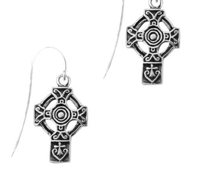 Anchor Celtic Cross Earrings, First Communion, Bride, Confirmation, Easter, Birthday, Sister, Anniversary, Graduation, Wife, Ireland Cross