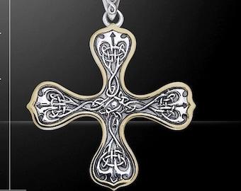 Unique Sterling Silver Celtic Cross