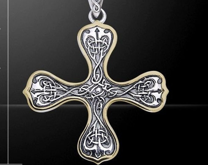 Celtic Cross Necklace, Irish Jewelry, Celtic Jewelry, Man's Cross, Woman's Cross, Bride Gift, Irish Cross, Medieval Cross, Wife Gift