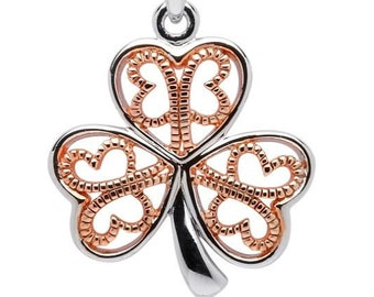 Shamrock Necklace, Clover Jewelry, Celtic Knot Necklace, Irish Jewelry, Anniversary Gift, Wedding Jewelry, Friendship Gift, Celtic Necklace