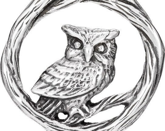 Owl Celtic Necklace, Nature Jewelry, Bird Necklace, Bird Lover, Wiccan Jewelry, Woodland Jewelry