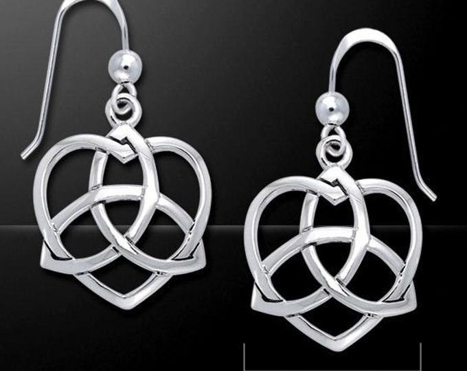 Love Knot Celtic Sterling Silver Earrings