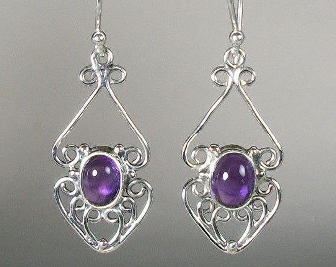 Celtic Knot Earrings, Celtic Jewelry, Amethyst Jewelry, Wiccan Jewelry, Norse Jewelry, Irish Jewelry, Scotland Jewelry, Gift for Her