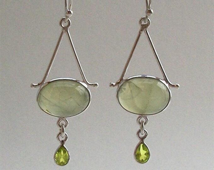 Irish Mist Earrings, Celtic Jewelry, Irish Jewelry, Celtic Knot Jewelry, Bridal Jewelry, Peridot Jewelry, Prehnite Jewelry, Mom Gift