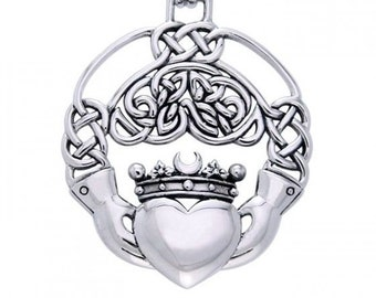 Claddagh Necklace, Celtic Jewelry, Celtic Knot Jewelry, Irish Jewelry, Bridal Jewelry, Girlfriend Gift, Heart Jewelry, Anniversary Gift