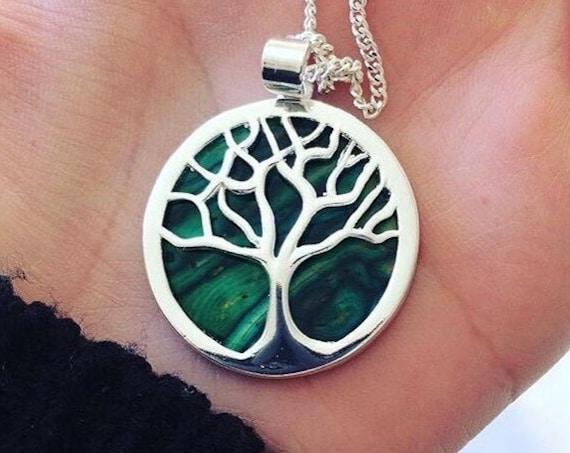 Tree of Life Necklace, Celtic Jewelry, Irish Jewelry, Scotland Jewelry, Anniversary Gift, Bridal Jewelry, Norse Jewelry, Nature Jewelry