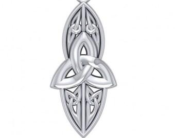Trinity Knot Necklace, Celtic Jewelry, Irish Jewelry, Scotland Jewelry, Triquetra Pendant, Norse Jewelry, Anniversary Gift, Mom Gift