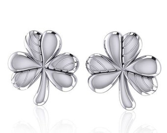 Shamrock Earrings, Celtic Jewelry, Celtic Knot, Clover Jewelry, Anniversary Gift, Irish Jewelry, Graduation Gift, Wife Gift, Girlfriend Gift
