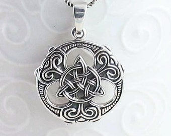 Viking Trinity Knot Necklace, Celtic Jewelry, Norse Jewelry, Pagan Necklace, Celtic Knot Pendant, Graduation Gift, Wiccan Jewelry, Birthday