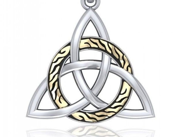 Celtic Goddess Trinity Knot Sterling Silver Necklace