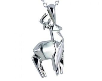 Stag Necklace, Origami Jewelry, Scotland Jewelry, Animal Necklace, Nature Necklace, Animal Jewelry, Woodland Necklace