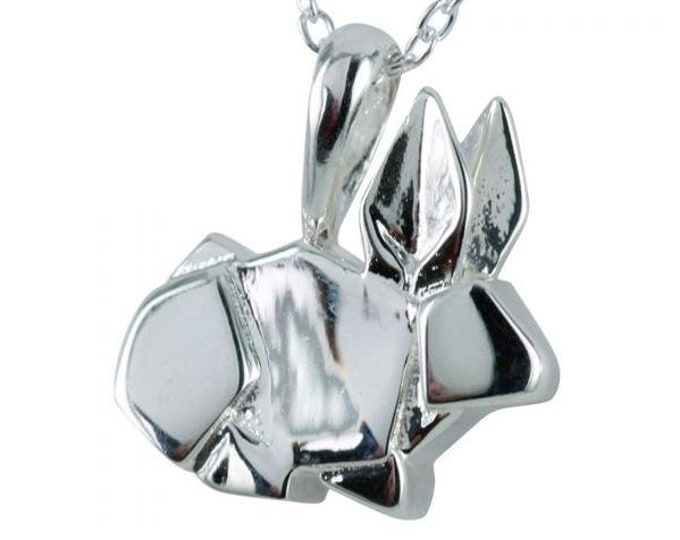 Bunny Necklace, Origami Jewelry, Easter Bunny, Daughter, Woodland Animal, Daughter, Origami Rabbi, Silver Animal, Valentine's Day Gift