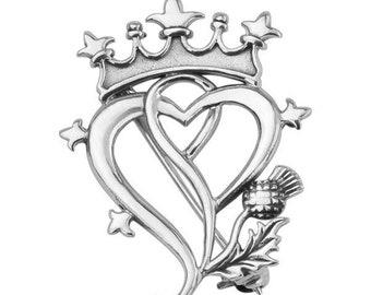 "Sterling Silver Scottish ""Elegant Luckenbooth"" Celtic Brooch, Outlander Inspired, Gift for Her, Girlfriend Gift, Wedding Jewelry"