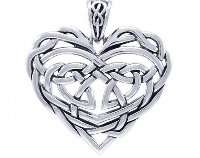 Love Knot Necklace, Celtic Jewelry, Bridal Jewelry, Mom Gift, Graduation Gift, Anniversary Gift, Wife Gift, Girlfriend Gift, Heart Pendant