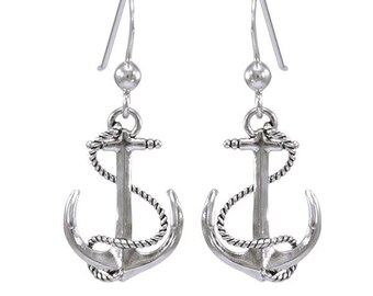 Anchor Earrings, Nautical Earrings, Inspirational Gift, Cancer Survivor Gift, Encouragement Gift, Sea Jewelry, Ocean Jewelry, Boat Gift