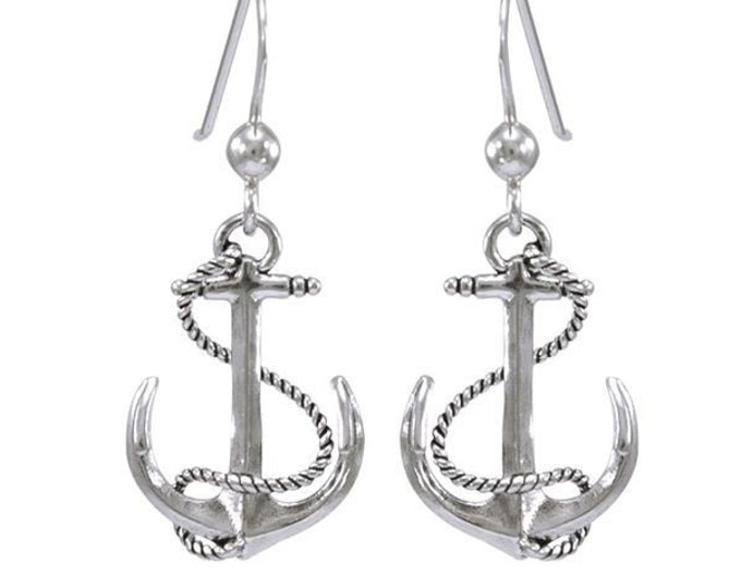 Anchor Earrings, Nautical Earrings, Inspirational Gift, Cancer Survivor Gift, Encouragement Gift, Symbolic Jewelry, Ocean Jewelry, Boat Gift