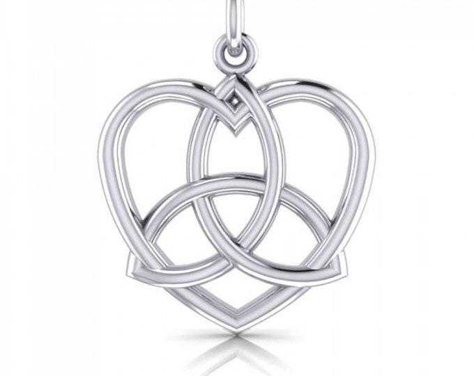 Love Knot Necklace, Celtic Jewelry, Heart Pendant, Gift for Her, Irish Jewelry, Bridal Jewelry, Sister Knot, Celtic Knot Necklace, Wiccan