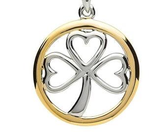 """Celtic """"Forever Ireland"""" Shamrock Necklace"""