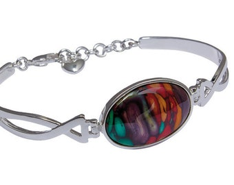 Scottish Celtic Twist Bracelet, Celtic Knot, Scottish Flower, Wiccan, Outlander Inspired, Gift for Her, Unique Bracelet, Girlfriend, Sister
