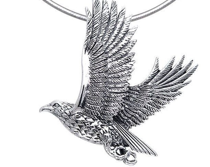 Eagle Necklace, Wiccan Jewelry, Eagle Pendant, Bird Pendant, Bird Jewelry, Pagan Jewelry, Nature Jewelry, Animal Jewelry, American Eagle