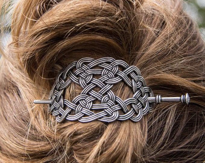 Celtic Knot Hair Slide, Celtic Hair Barrette, Hair Jewelry, Gift for Her, Celtic Jewelry, Celtic Barrette, Mother's Day Gift, Bun Holder