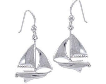 Ship Earrings, Nautical Jewelry, Friendship Gift, Ship Jewelry, Sailing Jewelry, Beach Jewelry, Ocean Jewelry, Anniversary Gift, Wife Gift