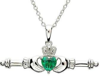 Claddagh Necklace, Irish Jewelry, Heart Pendant, Mom Gift, Anniversary Gift, Gift for Her, Birthday, Friendship Gift, Graduation Gift