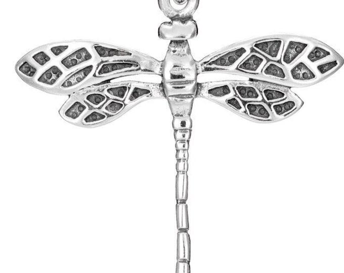 Outlander Celtic Dragonfly Sterling Silver Necklace