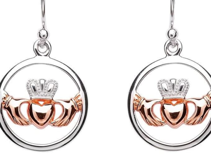 Claddagh Earrings, Girlfriend, Wife, Mother, Valentine's Day, Wedding Gift, Engagement, Heart, Crown