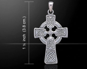 Celtic Cross Necklace, Irish Jewelry, Trinity Knot Necklace, Celtic Cross, First Communion Gift, Confirmation gift, Religious Jewelry