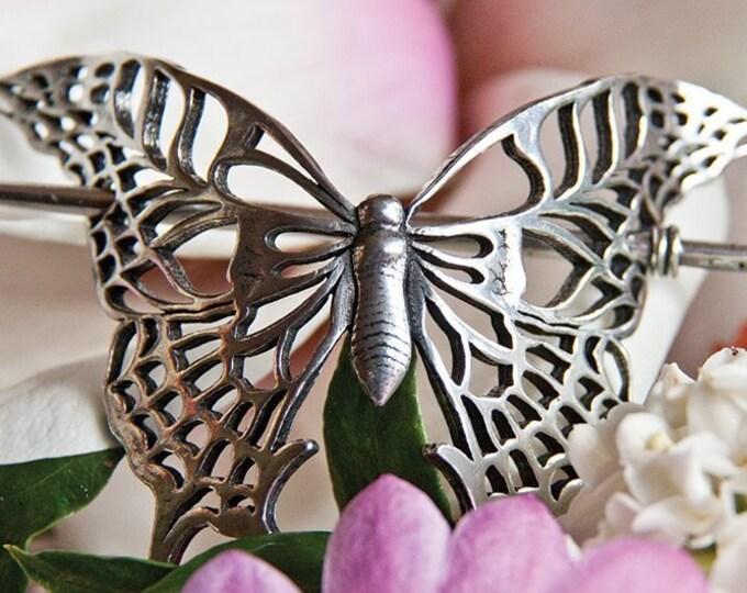 Butterfly Hair Slide, Celtic Hair Barrette, Hair Jewelry, Gift for Her, Celtic Jewelry, Celtic Barrette, Art Deco Jewelry, Bun Holder