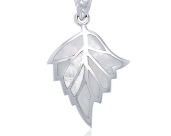Mother of Pearl New Beginning Leaf Celtic Necklace