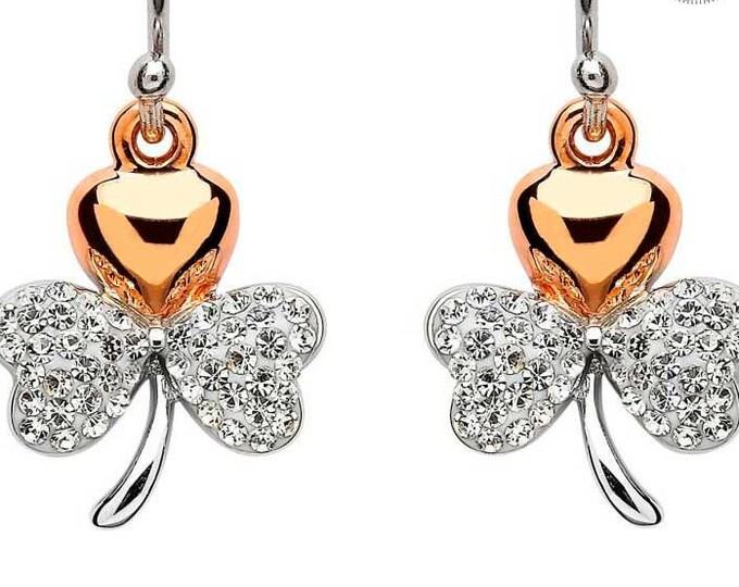 Shamrock Earrings, Ireland Jewelry, Celtic Jewelry, Wife Gift, Irish Jewelry, Clover Jewelry, Nature Jewelry, Bridal Jewelry