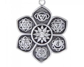 Chakra Wheel Necklace, Om Jewelry, Crown Chakra Jewelry, Yoga Jewelry, Boho Jewelry, Inspirational Jewelry, Lotus Jewelry, Anniversary Gift