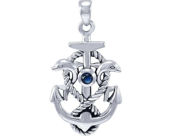 Anchor Necklace, Nautical Jewelry, Christian Jewelry, Hope Necklace, Retirement Gift, Survivor Gift, Mindfulness Gift, Ship Jewelry
