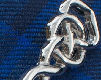 Pewter Argyll Celtic Weave Scottish Brooch
