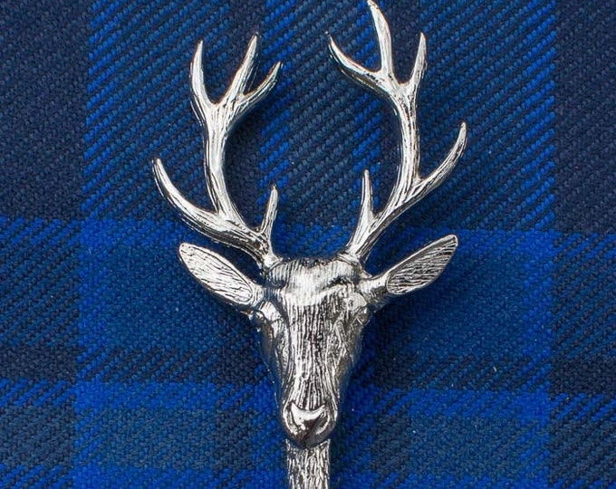 Stag Kilt Pin, Celtic Jewelry, Tartan Pin, Sword Pin, Groom Gift, Best Man Gift, Highland Bagpiper, Dad Gift, Gift for Him, Scotland Jewelry