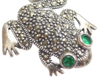 Frog Brooch, Nature Pin, Inspirational Gift, Toad Jewelry, Anniversary Gift, Cancer Survivor Gift, Celtic Brooch, Scarf Pin, Mom Gift