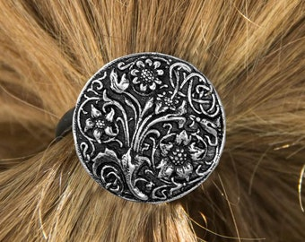 Celtic Flowers Ponytail Holder, Celtic Jewelry, Norse Jewelry, Celtic Hair Clip, Viking Jewelry, Graduation Gift, Retirement Gift, Mom Gift