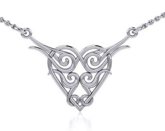 Heart Necklace, Celtic Jewelry, Celtic Knot Jewelry, Irish Jewelry, Scotland Jewelry, Girlfriend Gift, Anniversary Gift, Wiccan Jewelry