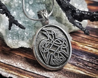 Raven Necklace, Celtic Necklace, Bird Lover Gift, Father's Day Gift, Gift for Her, Wife, Sister, Mother, Easter, Anniversary, Graduation