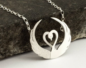 Swan Necklace, Children of Lir Necklace, Celtic Jewelry, Mothers Day Gift, Nature Necklace, Bridal Jewelry, Ireland Jewelry, Nature Necklace