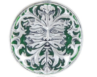 Green Man Necklace, Celtic Jewelry, Pagan Jewelry, Irish Jewelry, Nature Jewelry, Wiccan Jewelry, Nature Lover Gift, Anniversary Gift