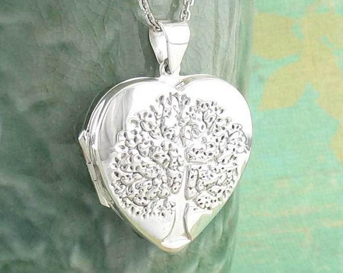 Tree of Life Necklace, Celtic Jewelry, Locket Pendant, Yoga Jewelry, Norse Jewelry, Anniversary Gift, Heart Pendant, Graduation