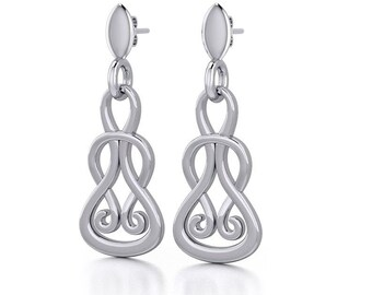 Celtic Knot Earrings, Irish Jewelry, Wiccan Jewelry, Anniversary Gift, Mom Gift, Wife Gift, Endless Knot Earrings, Scotland Jewelry