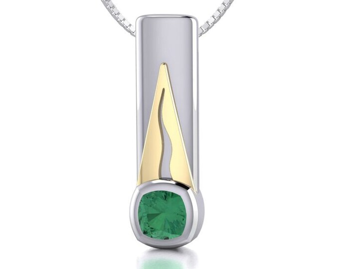 Celtic Necklace, Irish Jewelry, Irish Raindrop, Celtic Jewelry, May Birthstone, Green Stone, Bridal Jewelry, Modern Necklace