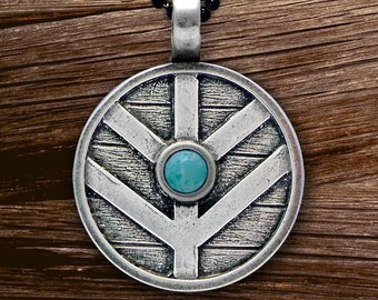 Viking Shield Necklace, Norse Necklace, Viking Necklace, Norse Jewelry, Pagan Jewelry, Celtic Jewelry, Anniversary Gift, Graduation Gift
