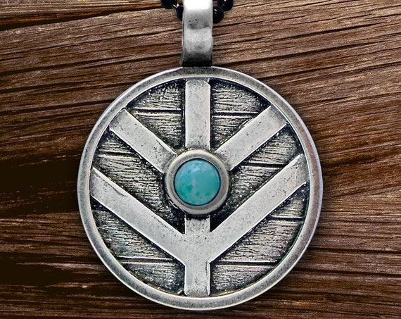 Viking Shield Necklace, Norse Necklace, Viking Necklace, Norse Jewelry, Pagan Jewelry, Celtic Jewelry, Anniversary Gift, Dad Gift